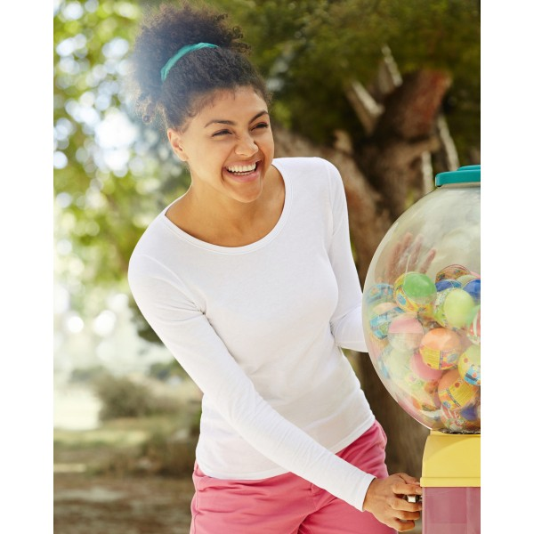 Fruit of the Loom Lady Fitted Long Sleeve T-shirts