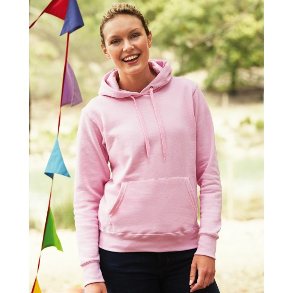Fruit of the Loom Classic Ladies Fitted Hoodies