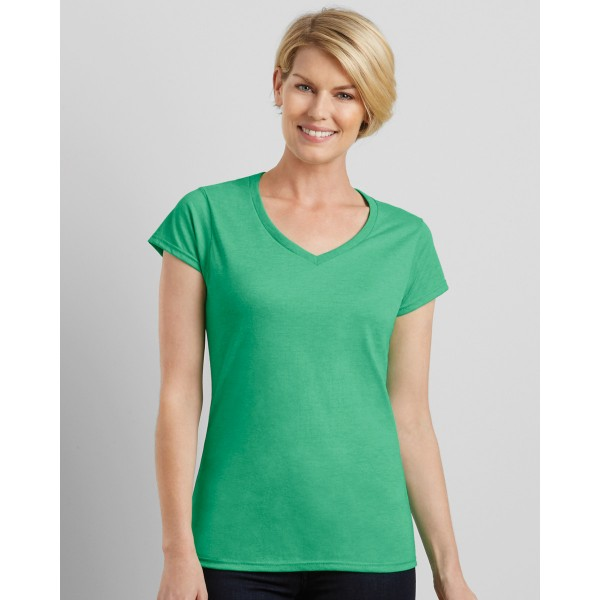 Gildan Softstyle Ladies V-neck Custom T-shirts