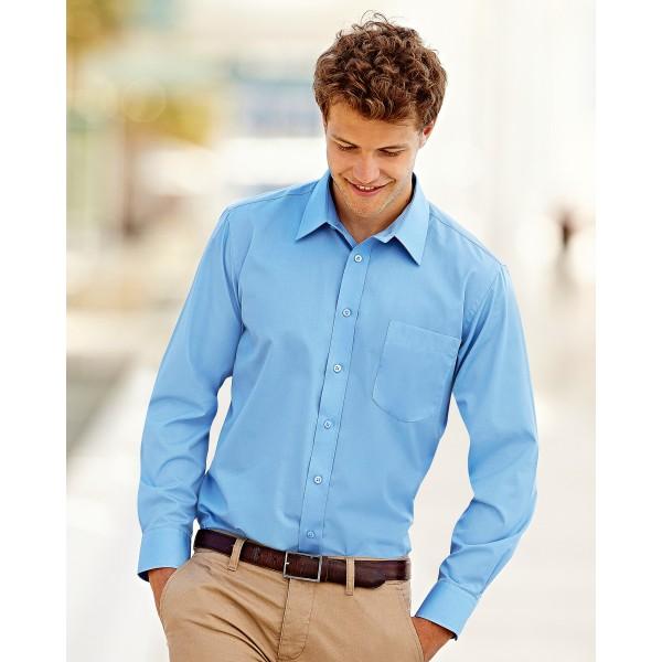 Fruit of the Loom Men's Custom Poplin Shirts for Staff Uniforms