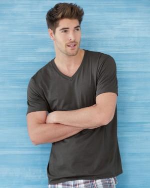 Unisex mens v-neck t-shirt for screen printing