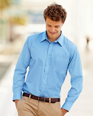 Fruit of the Loom Men's Custom Poplin Shirts for Staff Uniforms