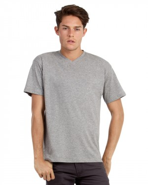 B&C Men's Exact V-neck T-shirts for Custom Clothing