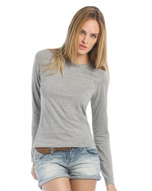B&C Women's Long Sleeve T-shirts for Custom Clothing