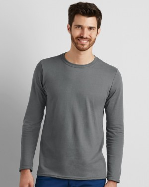Gildan Softstyle Men's Long Sleeve Personalised T-shirts