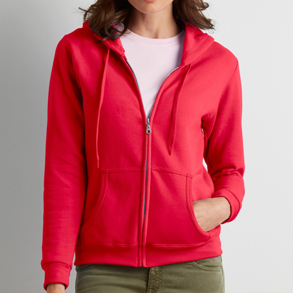 Gildan Ladies Full Zip Hooded Sweatshirt for custom printing