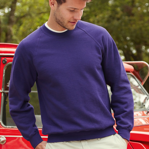 Fruit Of The Loom Men's Classic Raglan Sweatshirt for printing