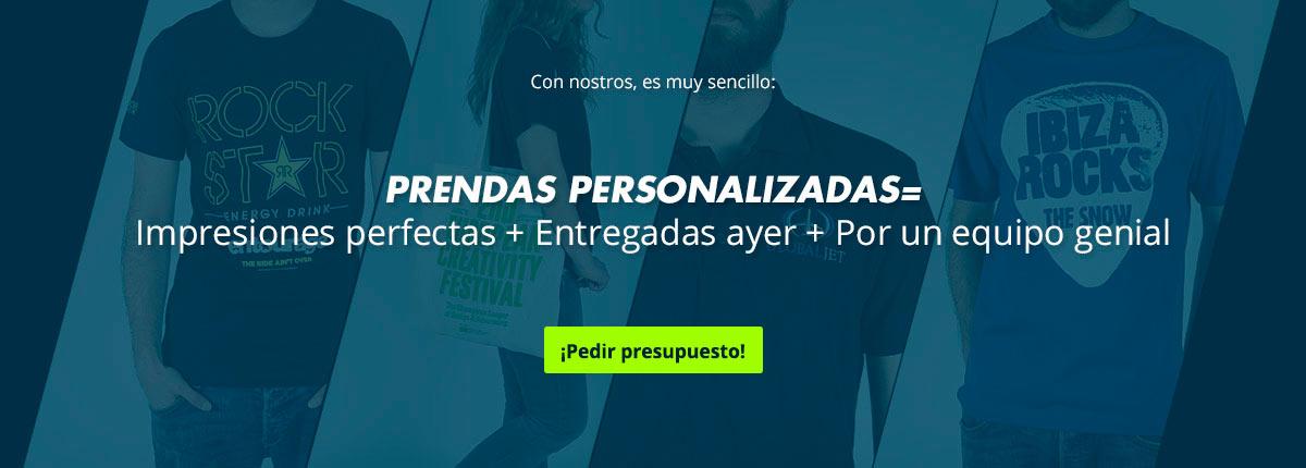 Portafolio de ropa personalizada hecha por Printsome, ropa promocional en España